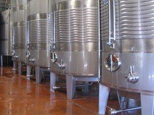 depositos de acero para vino