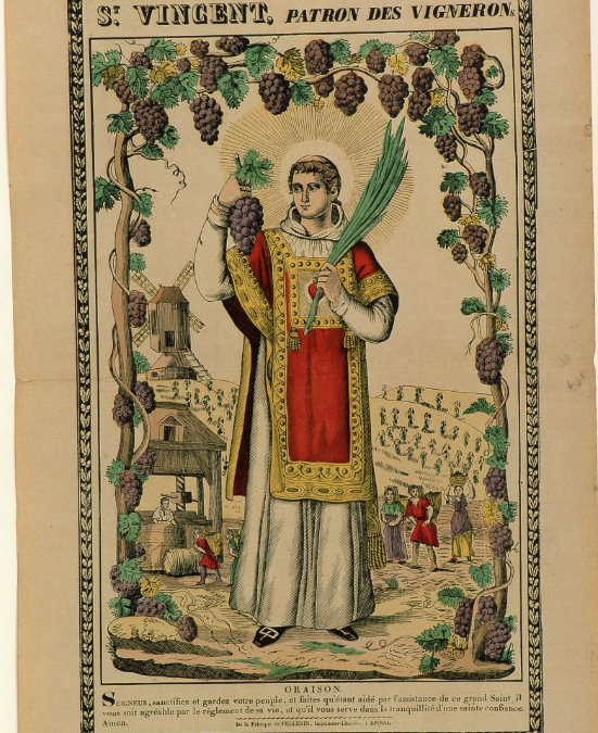San Vicente, mártir († 304), patrón de los viticultores